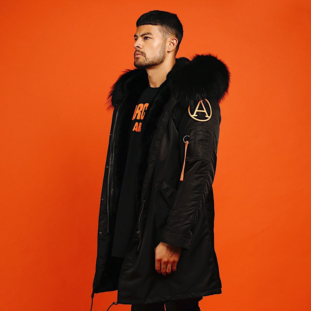 FAUX BLACKOUT PARKA