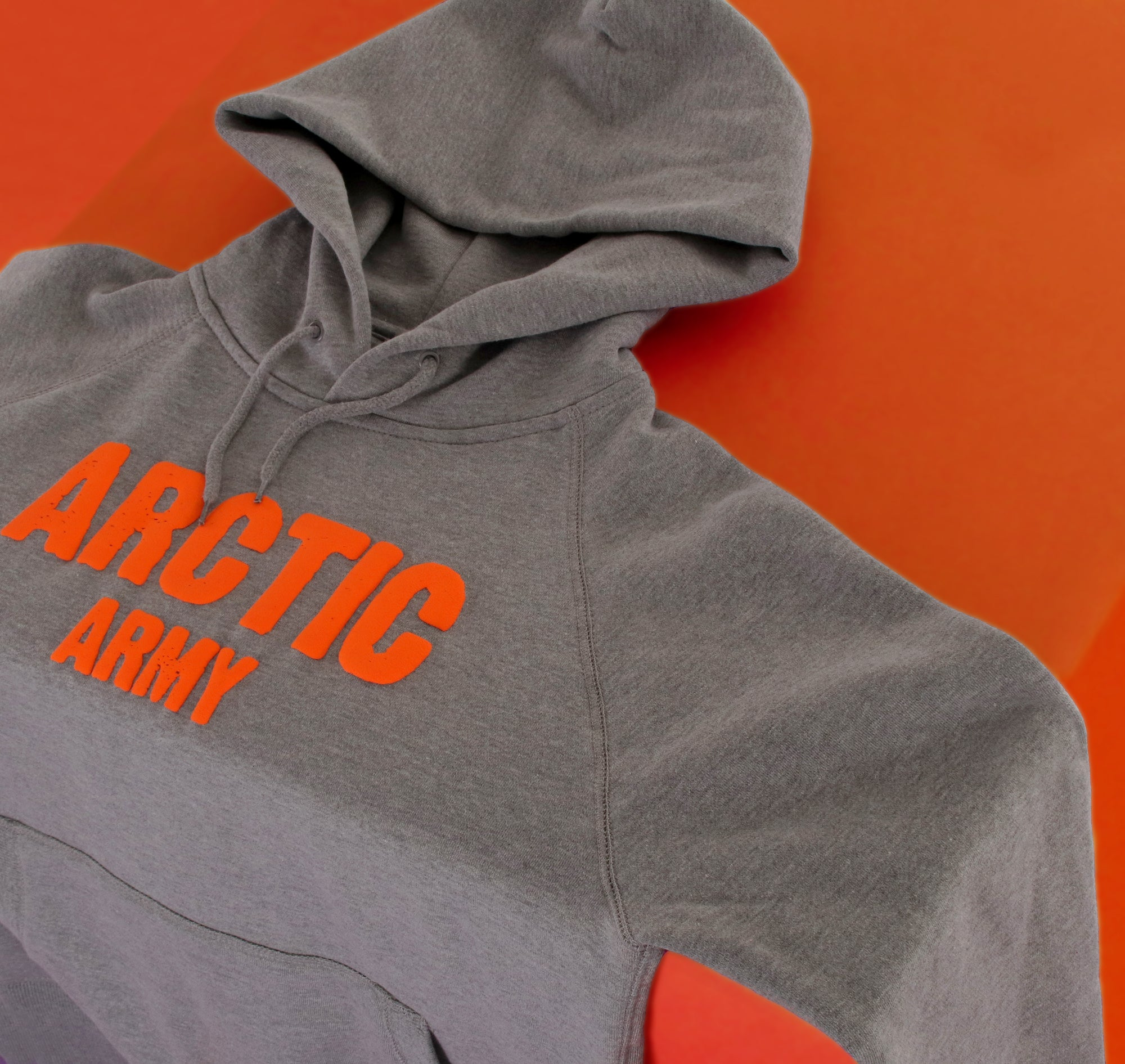 ARCTIC HOODIE - GREY / ORANGE LADIES (PRE-ORDER)