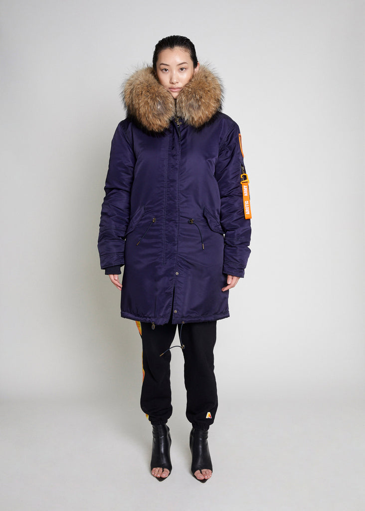 PARKA COAT - NAVY/NATURAL