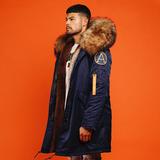FAUX DARK NAVY PARKA
