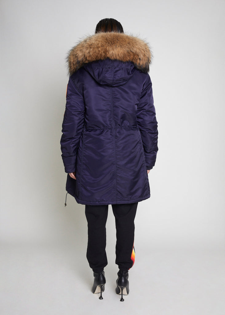 NEW PARKA - NAVY/NATURAL