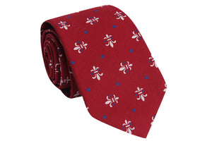Red Fleur-De-Lis Necktie - Barrel Down South