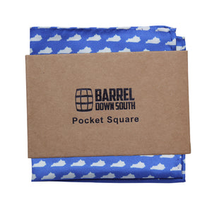 Blue KY Pocket Square - Barrel Down South