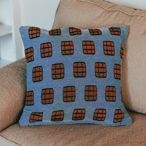 Blue Stripe Bourbon Pillow - Barrel Down South