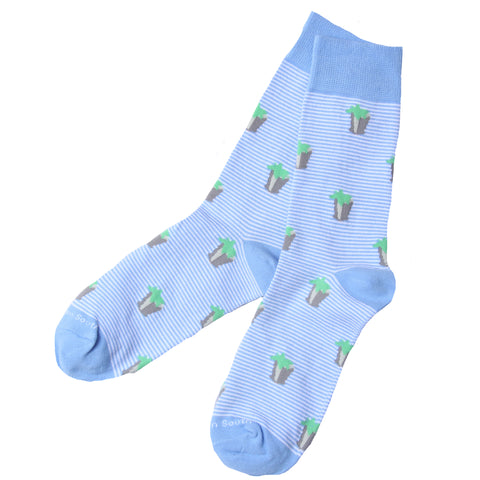 Blue Stripe Julep Socks - Barrel Down South