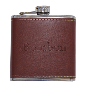 Bourbon Word Flask - Barrel Down South