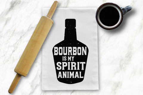 Bourbon Spirit Animal Tea Towel - Barrel Down South