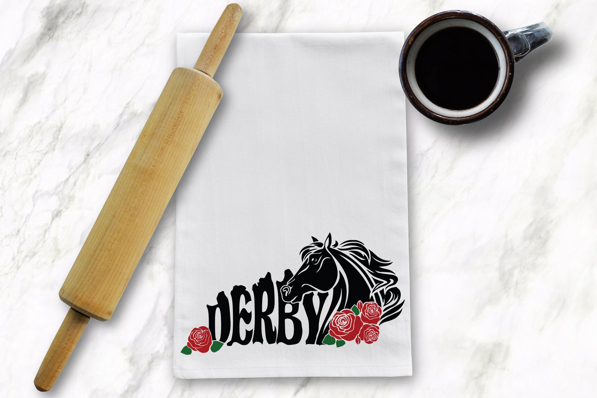 KY Shape Horse Tea Towel - Barrel Down South