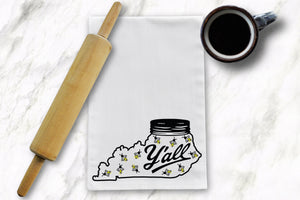 Y'all Lightning Bug Tea Towel - Barrel Down South