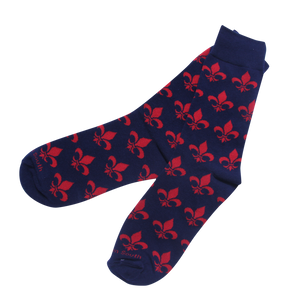 Fleur-De-Lis Socks - Barrel Down South