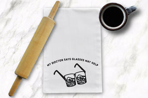 Bourbon Glasses Tea Towel - Barrel Down South