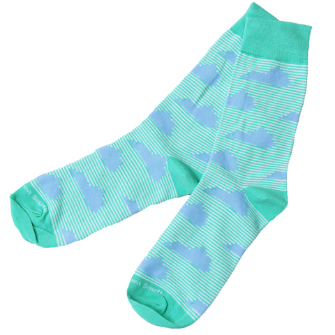 Green Stripe KY Socks - Barrel Down South