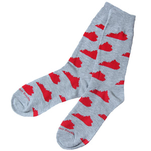 Grey/Red KY Socks - Barrel Down South