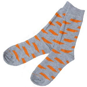 Grey/Orange TN Socks - Barrel Down South