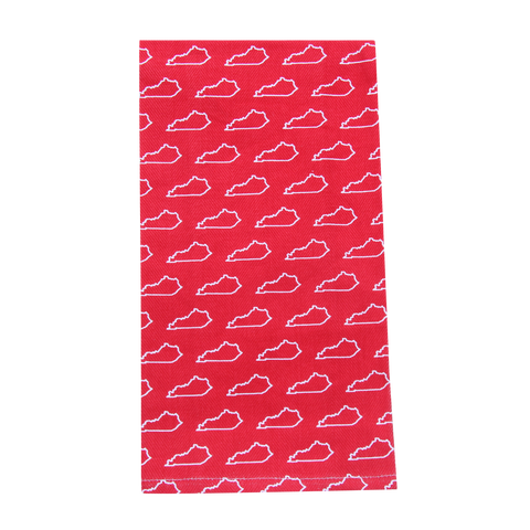 Red KY Pattern Tea Towel - Barrel Down South