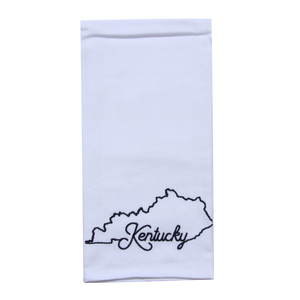 KY Shape Kentucky Tea Towel - Barrel Down South