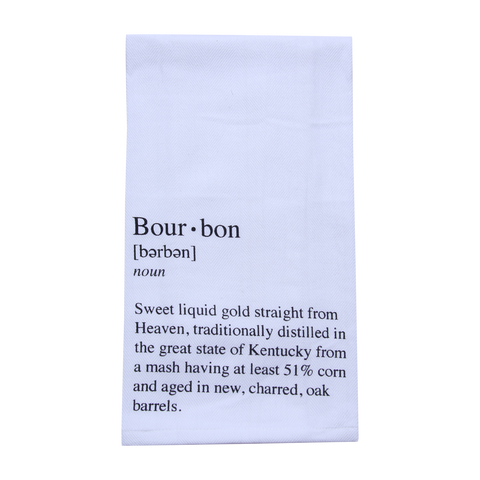 Define Bourbon Tea Towel - Barrel Down South