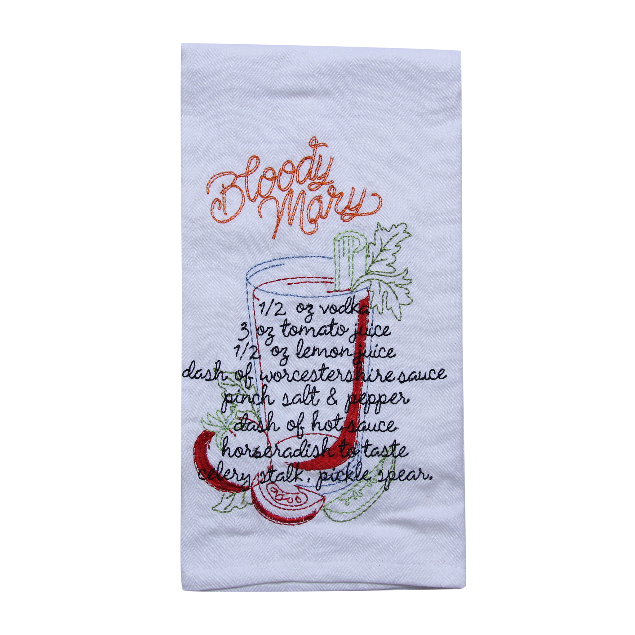 Bloody Mary Recipe Tea Towel - Barrel Down South