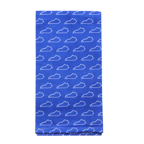 Blue KY Pattern Tea Towel