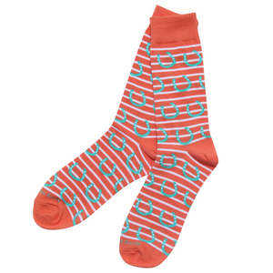 Horseshoe Stripe Socks - Barrel Down South