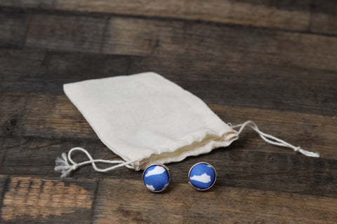 Blue KY Cufflinks - Barrel Down South