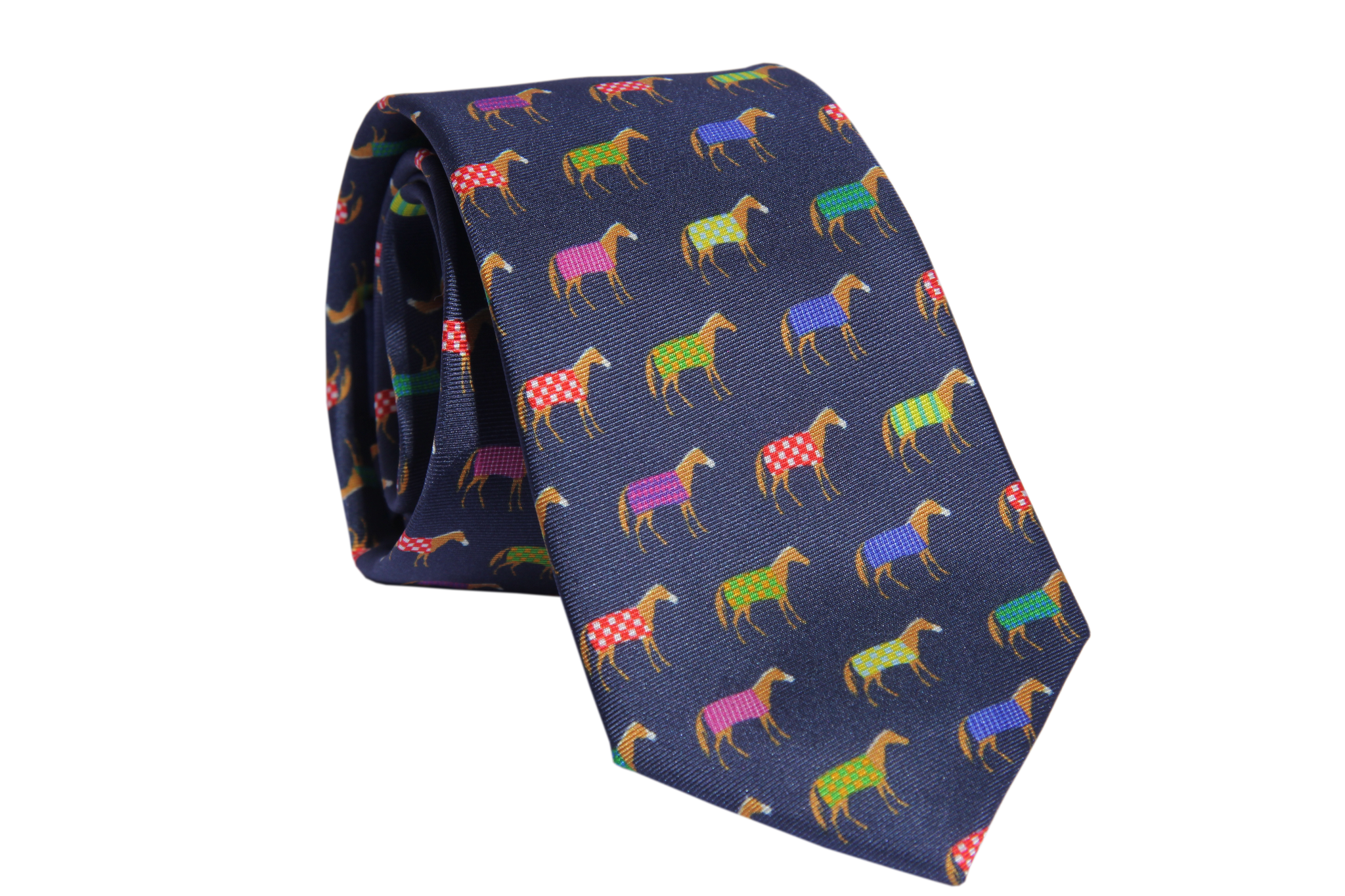 Multi Color Horse Necktie - Barrel Down South