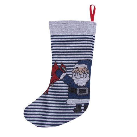 Blue Stripe Naughty List Stocking - Barrel Down South