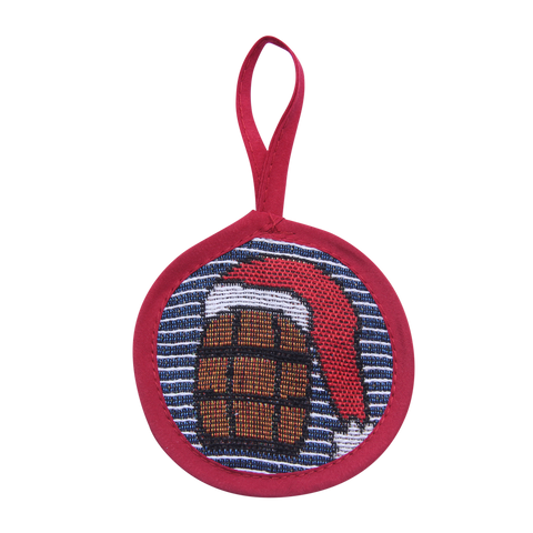 Blue Stripe Bourbon Ornament - Barrel Down South
