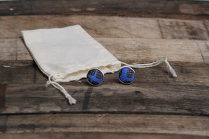 Blue Barrel Aged Cufflinks - Barrel Down South