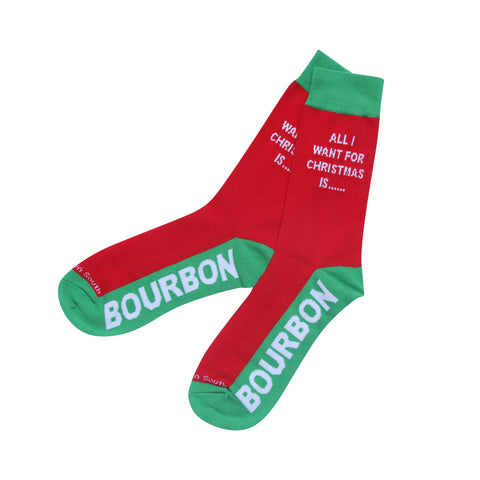All I Want for Christmas Is Bourbon Socks