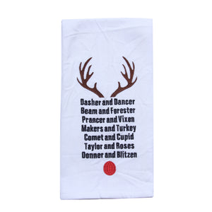 Bourbon Reindeer Tea Towel