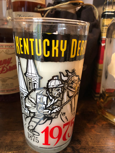 Kentucky Derby Glass Candle - Barrel Down South