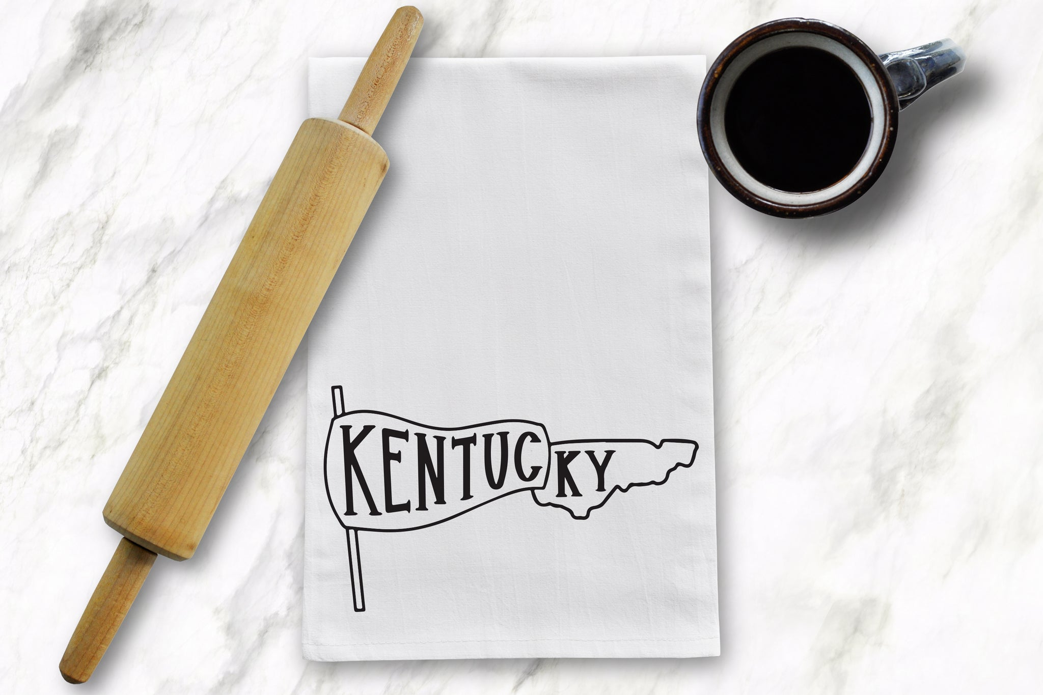 KY Pennant Tea Towel - Barrel Down South