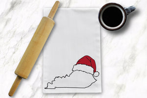 KY Santa Tea Towel - Barrel Down South