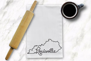Louisville KY Tea Towel - Barrel Down South