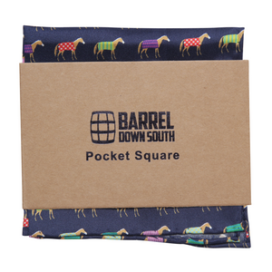 Multi Color Horse Pocket Square - Barrel Down South