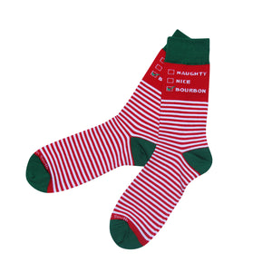 Naughty Nice Bourbon Socks