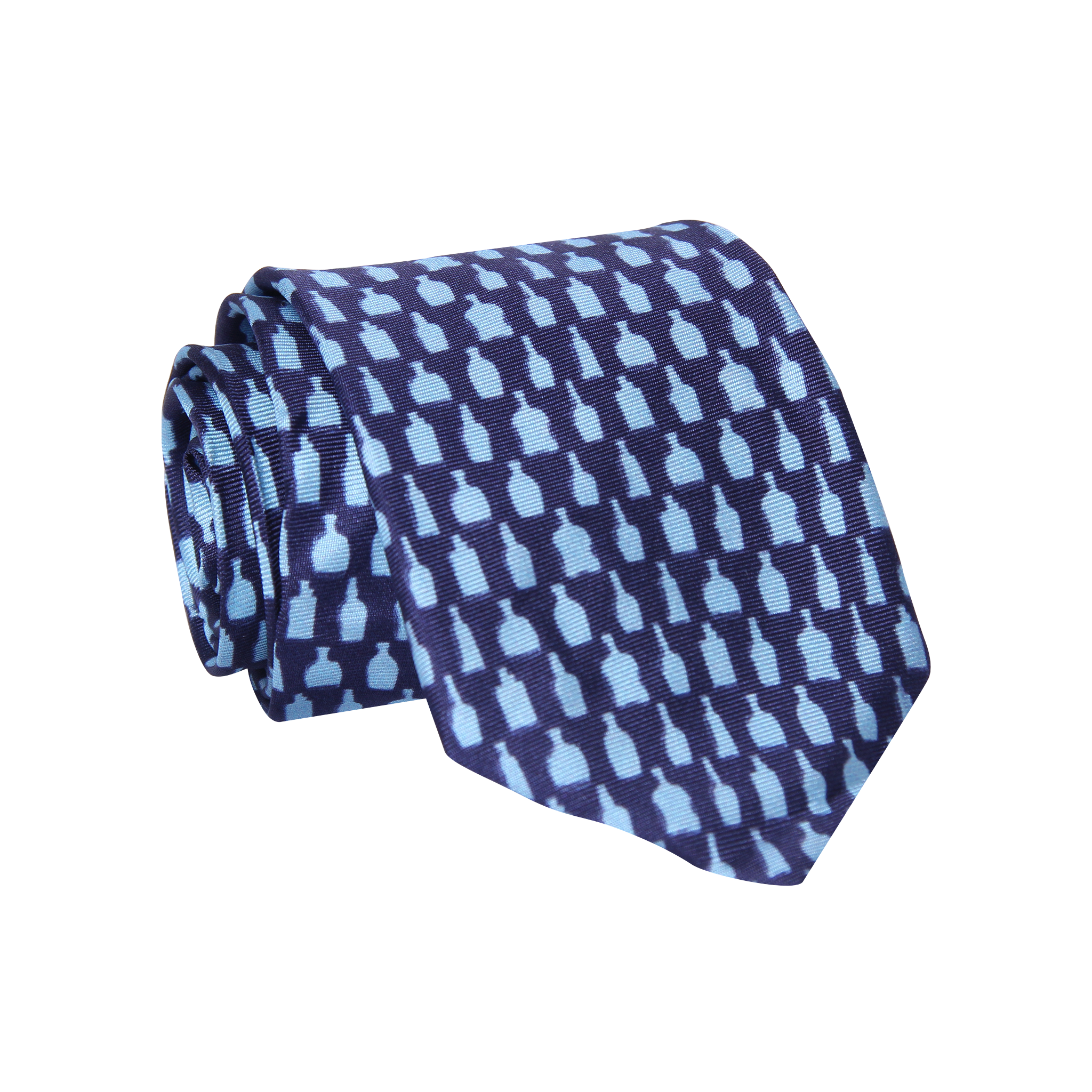 Bottled Up Navy Necktie - Barrel Down South