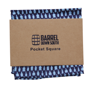 Bottled Up Navy Pocket Square