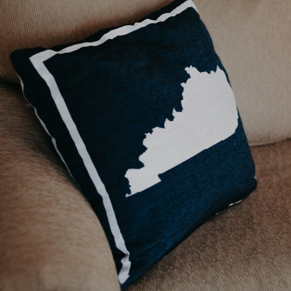 Navy KY Shape Pillow - Barrel Down South