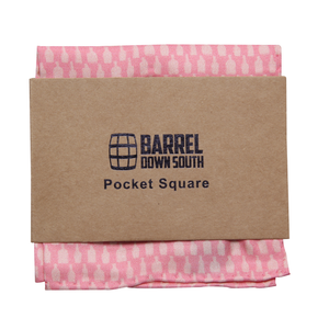 Bottled Up Pink Pocket Square - Barrel Down South