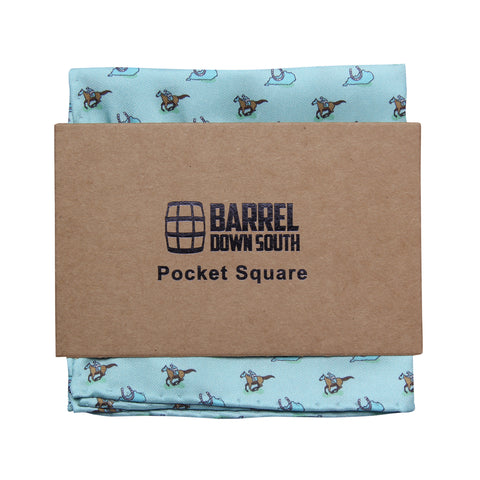 Raceday Pocket Square - Barrel Down South