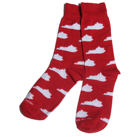 Red/White KY Socks - Barrel Down South