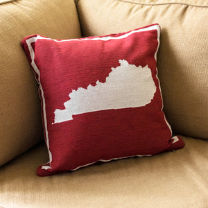 Red KY Shape Pillow - Barrel Down South