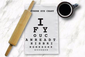 Eye Chart Tea Towel - Barrel Down South