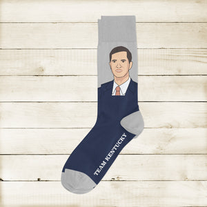 Team Kentucky- Andy Face Socks - Barrel Down South