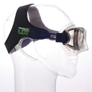 Frogglex UDT Adult Goggles & Strap - Black strap (Adult) GOGGLES NOT INCLUDED