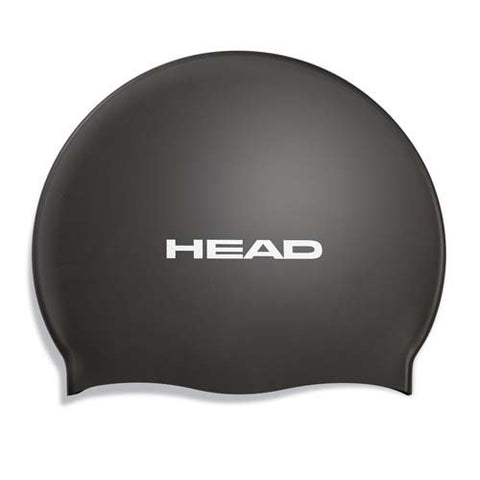 HEAD Silicone Flat Swim Cap - Pearl Black