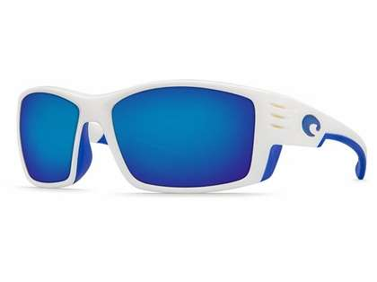 Costa Del Mar Cortez White Frame w/ Blue Mirror Lens Fishing Sunglasses