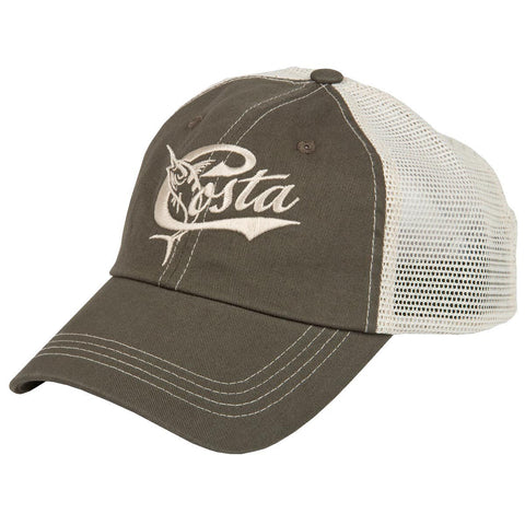 Costa Del Mar Retro Trucker Moss Hat